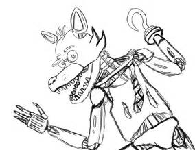foxy coloring foxy five nights at freddys free colouring pages