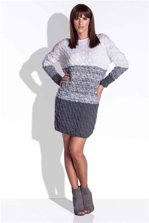 knitted winter dress grey knitted fall winter dress