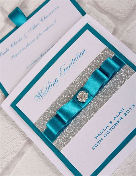 teal wedding invitations teal wedding invitations with bling turquoise weddings