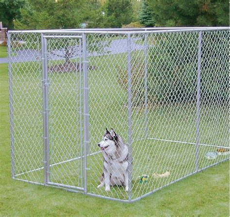 large outdoor kennel outdoor kennel large chain link fence pet enclosure run g ebay
