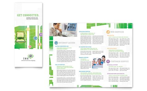 service brochure template isp service tri fold brochure template word