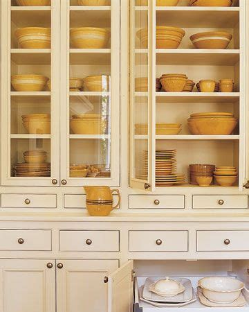 Mustard Kitchen Cabinets Yellowware Country Primitive Colonial Mustard Yellow Cabinets And Pottery