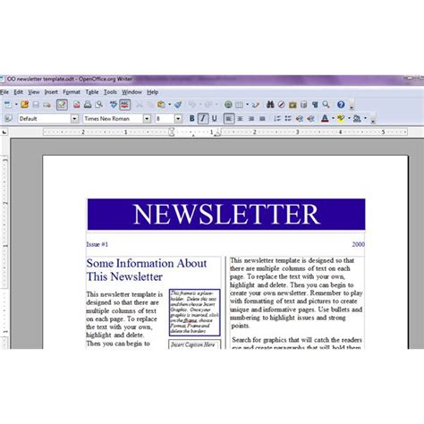 openoffice newspaper template tips for creating a recipe newsletter or cooking phlet