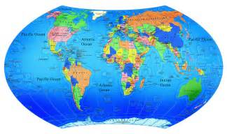 World Map With Labels by World Map World Map