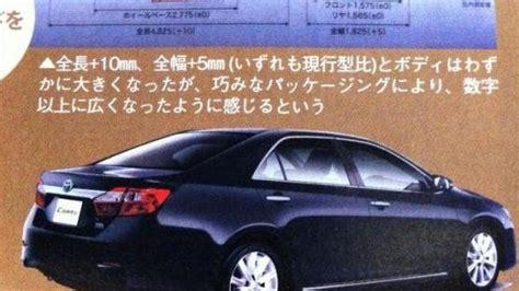 Toyota Camry Brochure 2012 Toyota Camry Brochure Leaked