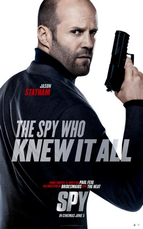 film jason statham 2015 jason statham poses solo in the new spy poster