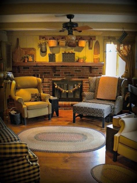 primitive living room primitive living rooms home decor pinterest colors