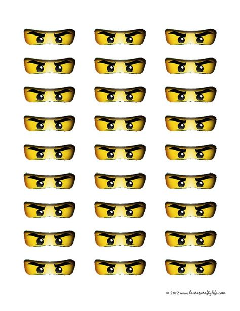 Printable Lego Eyes | free coloring pages of ninjago eyes