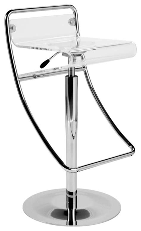 Clear Acrylic Bar Stool Angelita Bar Stool Clear Acrylic Chrome Modern Bar Stools And Counter Stools By Modern