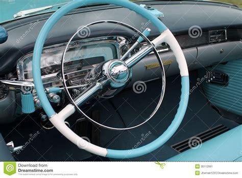 White Interior Car by American Classic Car Interior Stock Image Image 30112061