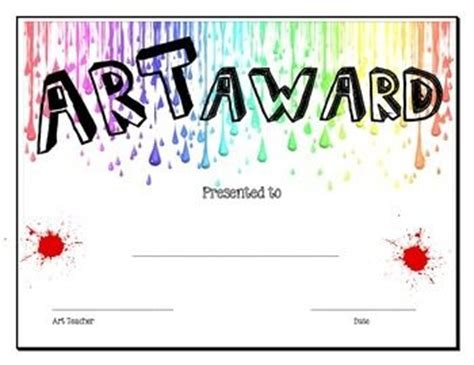 printable art awards 1000 images about art award certificates on pinterest
