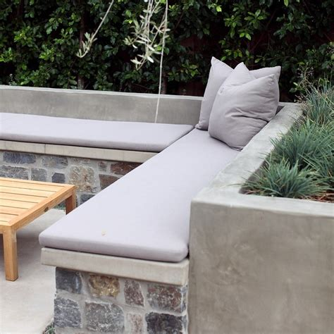how to make a concrete bench seat 5 inspiring ideas for your outdoor entertaining area