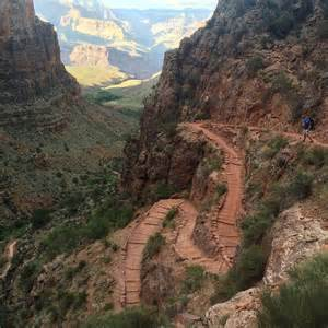 Bright angel trail to indian garden grand canyon national park az