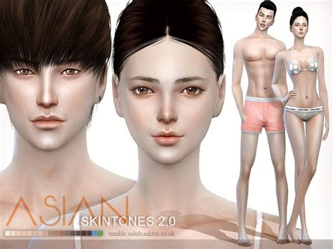 cc sims 4 female skin my sims 4 blog s club asian skin 2 0 for males and