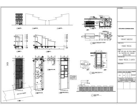 contoh gambar imb rumah tinggal  lantai das studio arsitek
