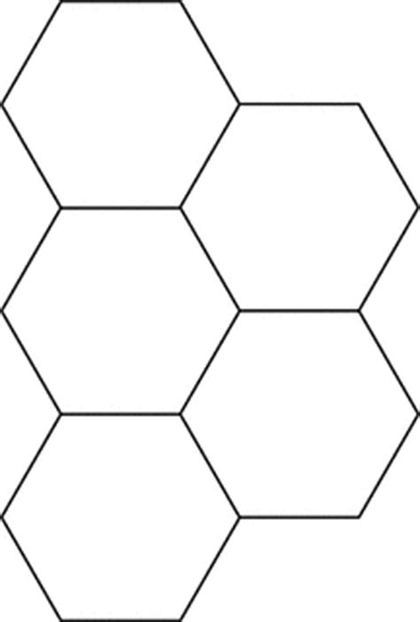 pattern of hexagonal numbers small hexagons for pattern block set clipart etc