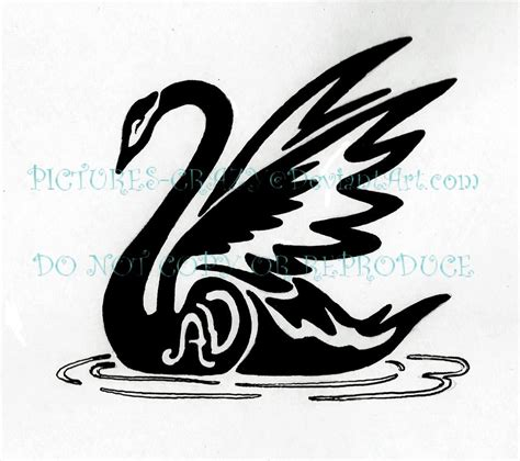 swan tribal tattoo by pictures crazy on deviantart