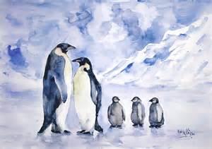 What Us A Duvet Penguin Family Painting By Faruk Koksal