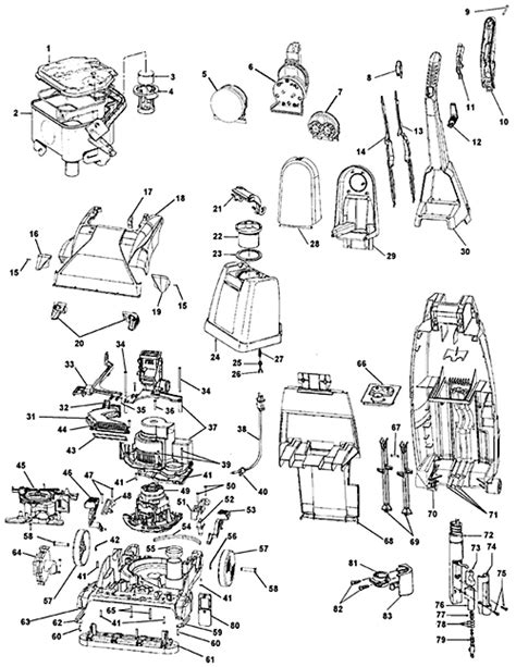 hoover steamvac parts diagram hoover f6024 900 steam vac vacuum cleaner parts