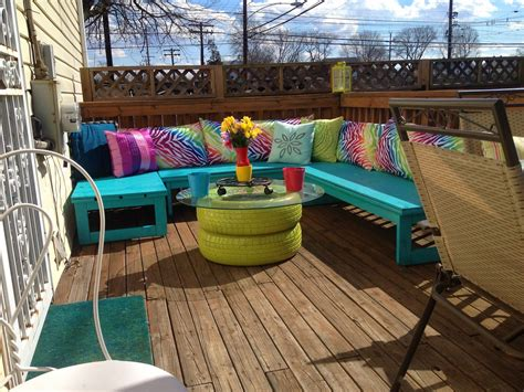 diy outside seating area madcap frenzy graphic design diy papercrafts and