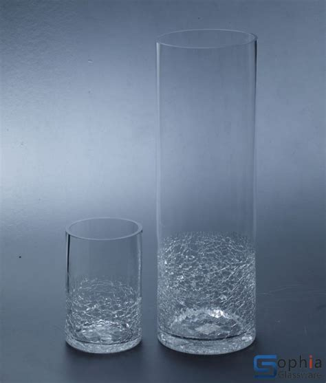 Cracked Glass Vase by Cracked Glass Vases Sb001 003 Sophiaglassware Glass