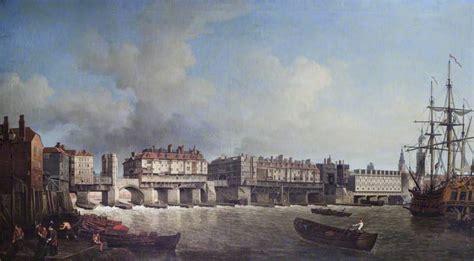 old boat london bridge art artists river thames paintings 1650 1995 part 1