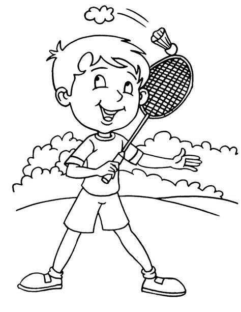 badminton coloring pages coloring pages