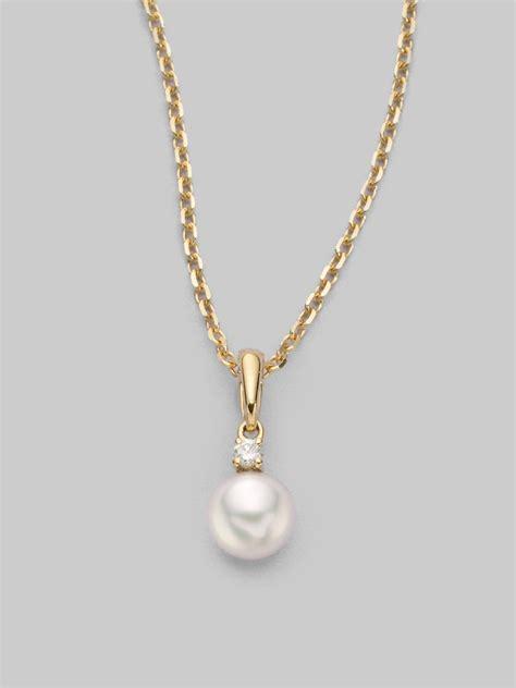 mikimoto 6mm white cultured akoya pearl 18k