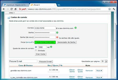 email pt registar pt criar uma conta de e mail no cpanel