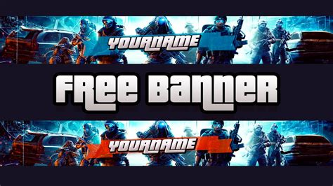 Free Gaming Youtube Banner Template 1 Download Psd File Youtube Gaming Banner Template Psd