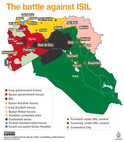 syria on map mapped the battle against isil syria al jazeera