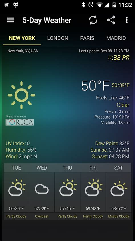 weather widget android weather clock widget for android ad free android apps on play