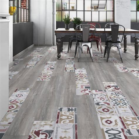 Mix Carrelage Parquet by Sol Stratifi 233 Cr 233 Ativ Composition Mix Bois Carreaux De