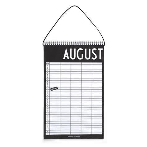 design letters kalender monthly planner fra design letters hold styr p 229