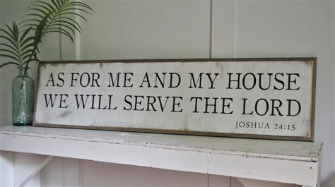as for me and my house as for me and my house we will serve the lord 1 x4 sign distressed shabby chic