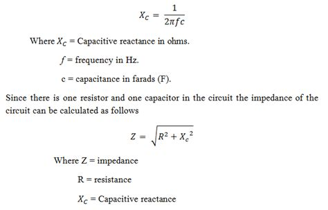 capacitor calculator xc order and second order passive low pass filter circuits