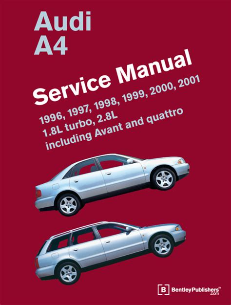 online service manuals 1985 audi quattro free book repair manuals front cover audi audi repair manual a4 1996 2001 bentley publishers repair manuals and