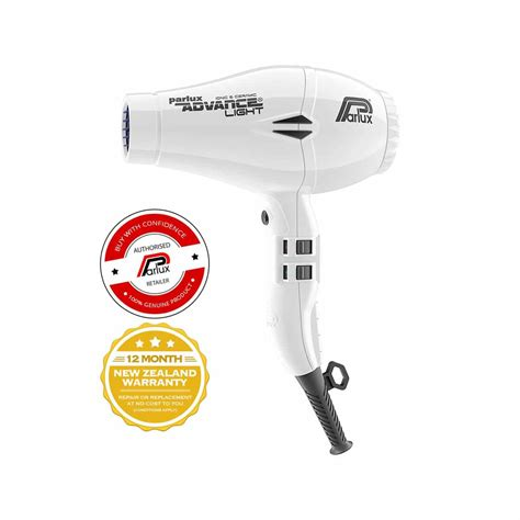 Hair Dryer New Zealand parlux advance light hair dryer white the lounge