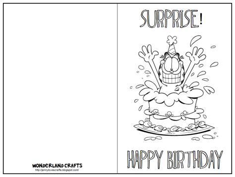 card print out template crafts birthday