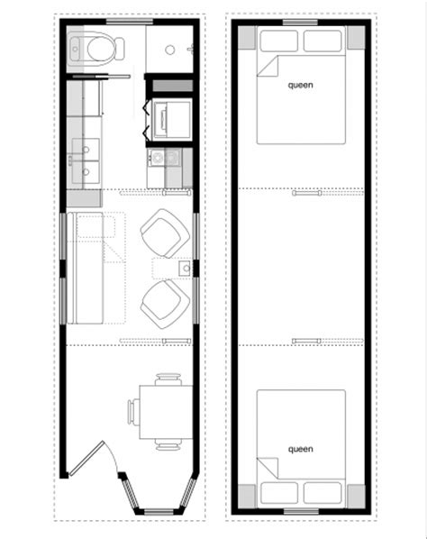 10 By 8 Floor Plan - stylish 8 x 20 tiny house floor plans colorful photo