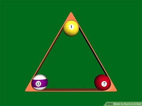 how to properly rack 8 ball how to rack in 8 ball 7 steps with pictures wikihow