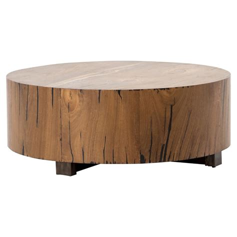 redding rustic lodge wood tree trunk coffee table