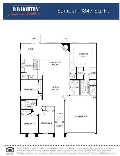 Dr Horton Floor Plans Florida | sanibel fl pl page 001