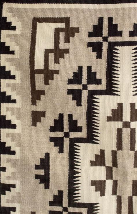 Two Grey Rug by Navajo Two Grey Woven Wool Rug