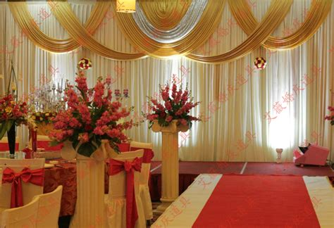 Wedding Decoration Curtains Aliexpress Buy 3x6m White And Gold Wedding Backdrop Drapes For Wedding Curtains Wedding