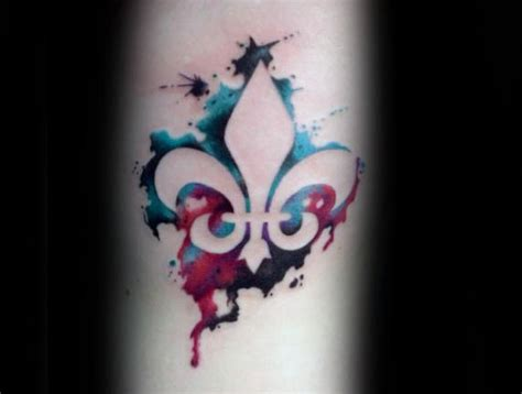 70 fleur de lis tattoo designs for men stylized lily ink