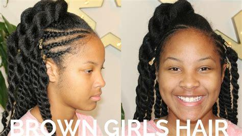 kids flat braided bun hairstyles twists cornrows hairstyle natural hair kids youtube