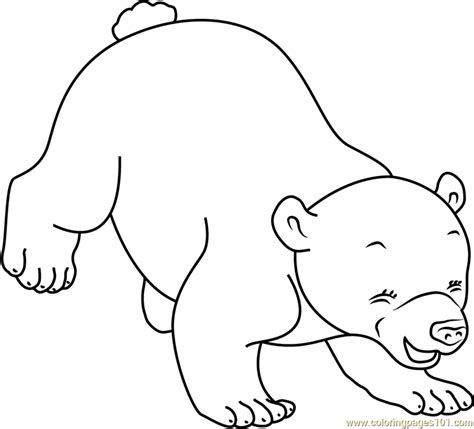 coloring pages the little polar bear little polar bear playing coloring page free the little