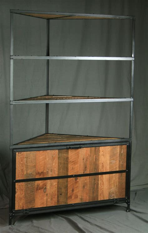 Kitchen Cabinet End Shelf Combine 9 Industrial Furniture Rustic Industrial
