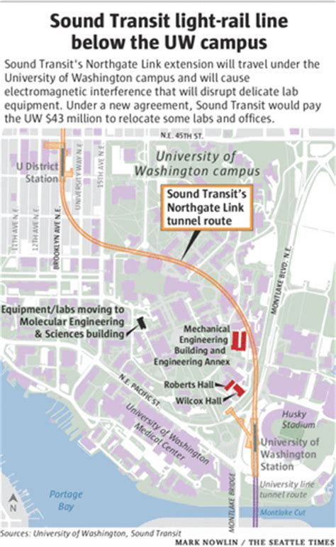 Light Rail Times by 43 Million Deal To Move Uw Labs For Light Rail Line The